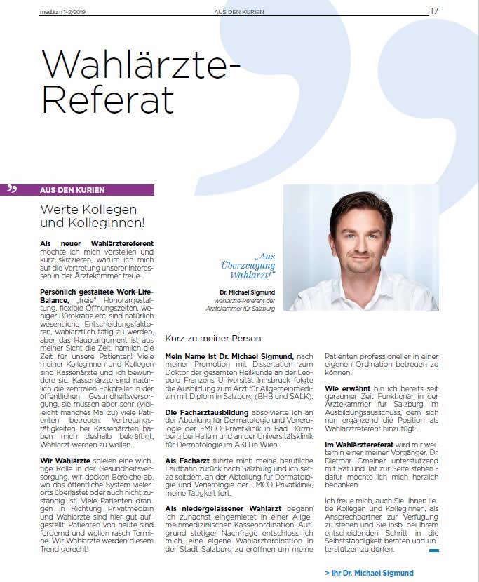 Dr. Michael Sigmund-Wahlaerzte-Referat